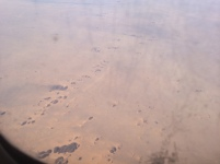 Small dark hills between Western Sahara and Mauritania.