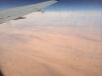 Almost featureless flat desert in northern Mauritania